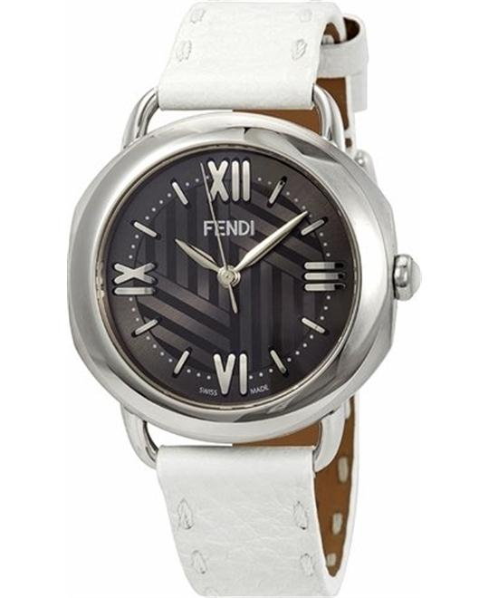 FENDI SELLERIA F8020360H0-WH ANTHRACITE SUNRAY WATCH 36MM
