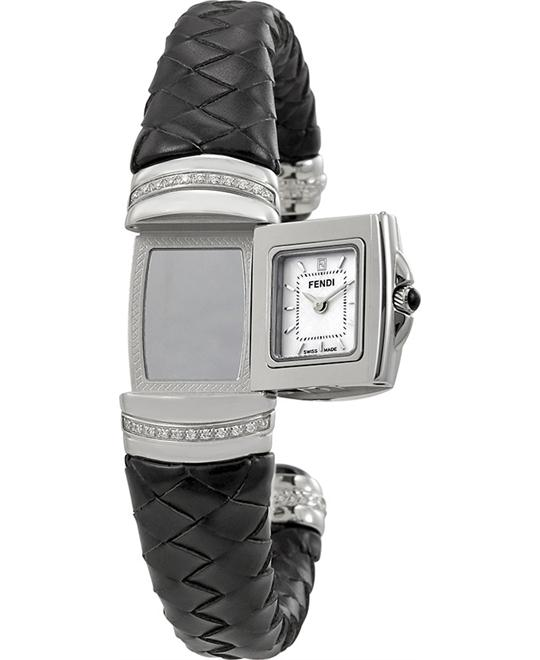 FENDI SPY LARGE F901241DC SIZE MOTHER OF PEARL DIAL 37x20MM