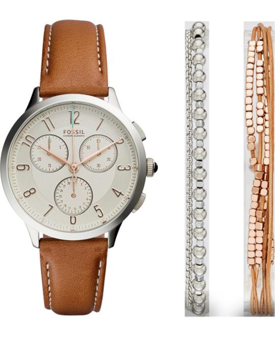 Fossil Abilene Chronograph Watch Set 34mm
