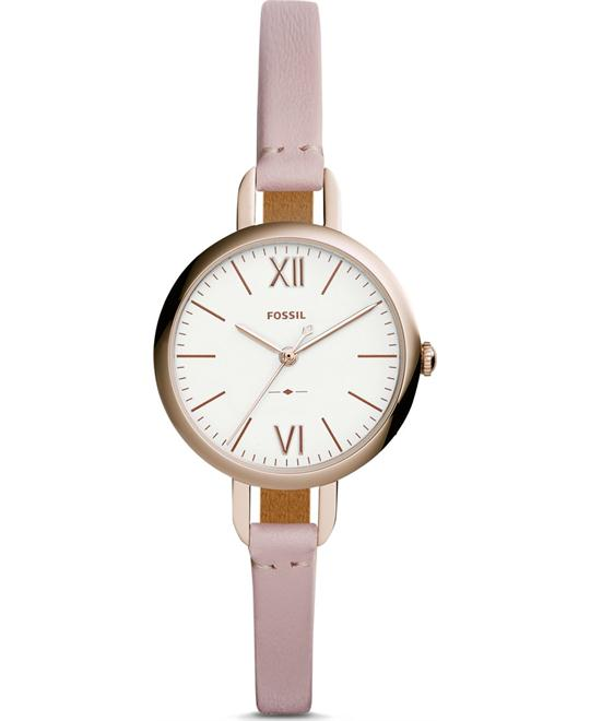 Fossil Annette Three-Hand Pastel Pink Watch 30mm