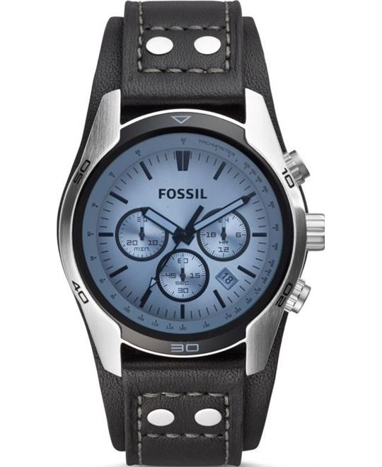 Fossil Blue Glass Chronograph Watch 45mm