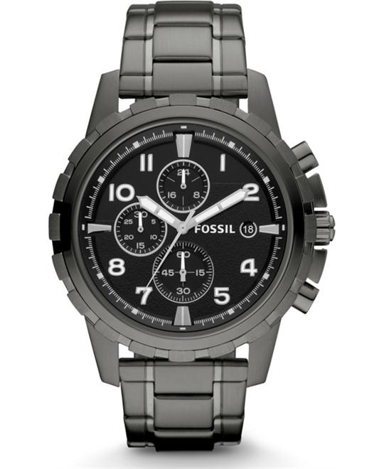 FOSSIL DEAN CHRONOGRAPH SMOKE WATCH 45mm