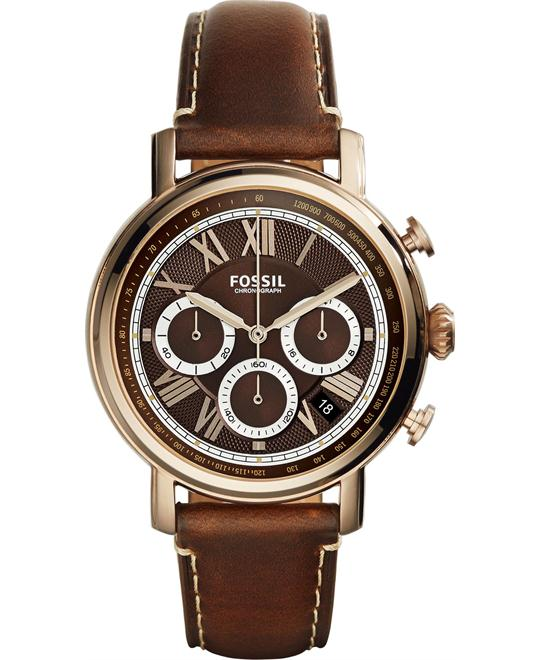 Fossil Buchanan Brown Dial Men's Watch 42mm