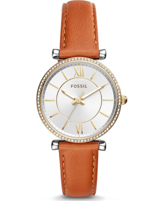 Fossil Carlie Three-Hand Luggage Watch 35mm