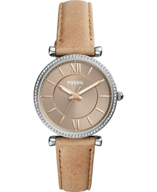FOSSIL CARLIE THREE-HAND SAND WATCH 35MM