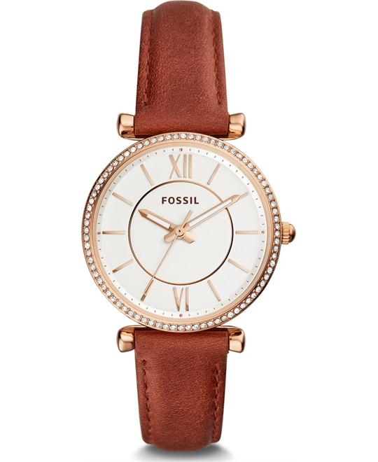 Fossil Carlie Three-Hand Terracotta Watch 35mm