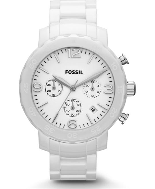 Fossil Chronograph Ceramic Watch  40mm