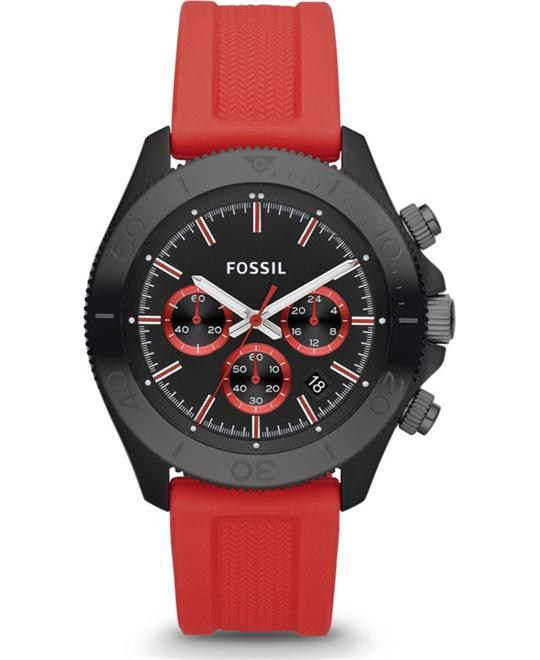 Fossil Chronograph Silicone Watch 44mm