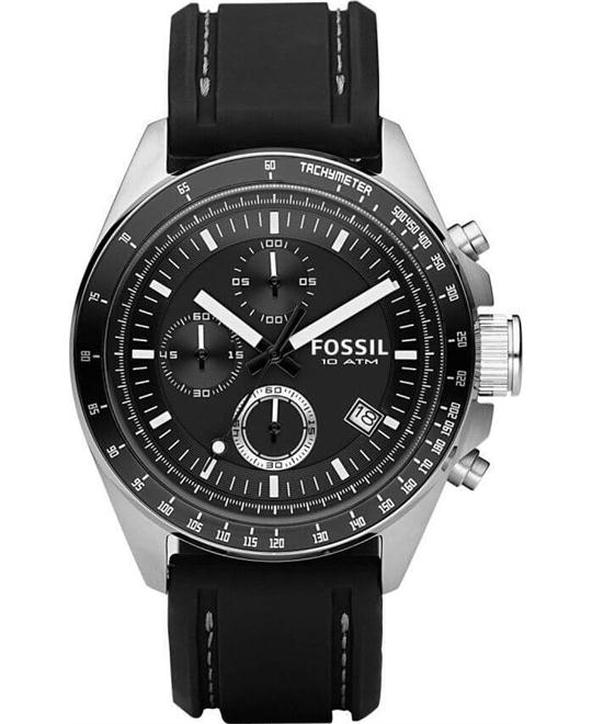 Fossil Decker Chronograph Silicone Men's Watch 44mm