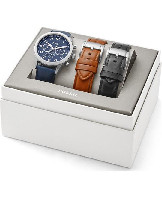 Fossil Flynn Pilot Chronograph Gift Set Watch 43mm