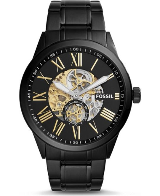 FOSSIL FLYNN PILOT MECHANICAL BLACK WATCH 48mm