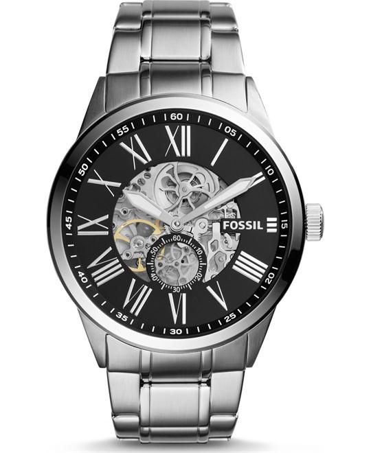 Fossil Flynn Pilot Mechanical Watch 48mm