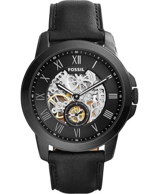 Fossil Grant Automatic Black Men's Watch 45mm