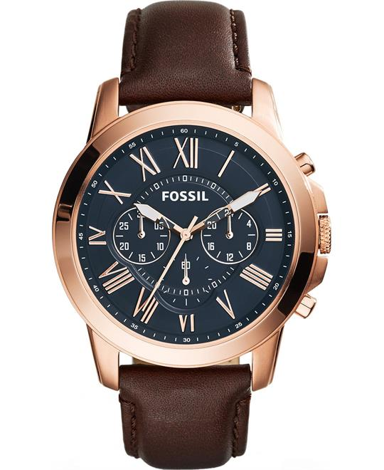 Fossil Grant Brown Watch 44mm