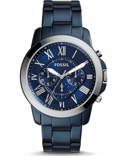 FOSSIL GRANT CHRONOGRAPH BLUE-TONE WATCH 44MM