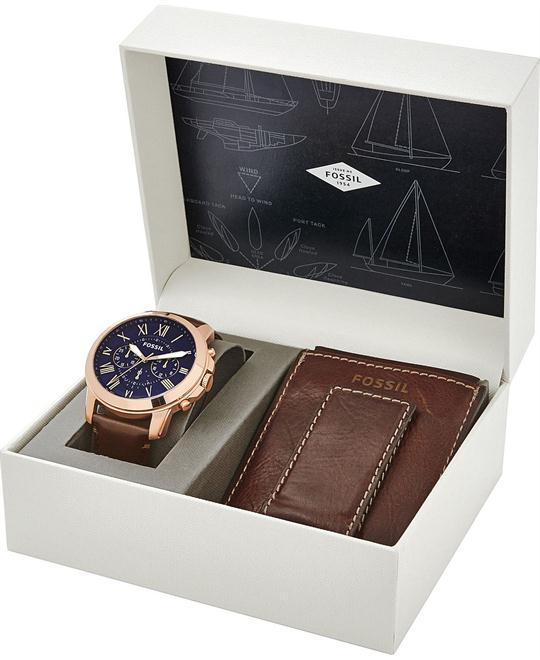 Fossil Grant Chronograph Dark Brown Watch 44MM