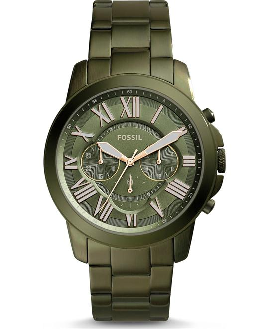 Fossil Grant Chronograph Olive Green Watch 44mm