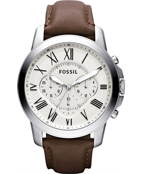 Fossil Grant Cream Watch 44mm