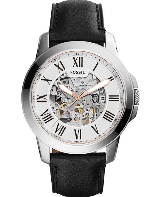 Fossil Grant Silver Automatic Men's Watch 45mm