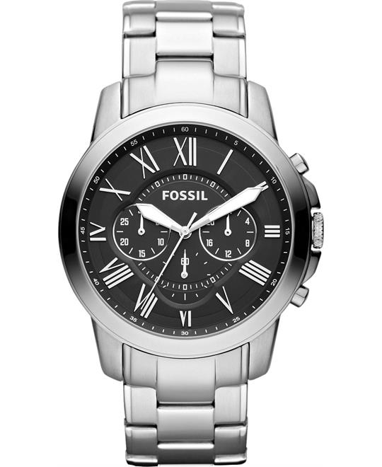 Fossil Grant Stainless Steel Watch 44mm
