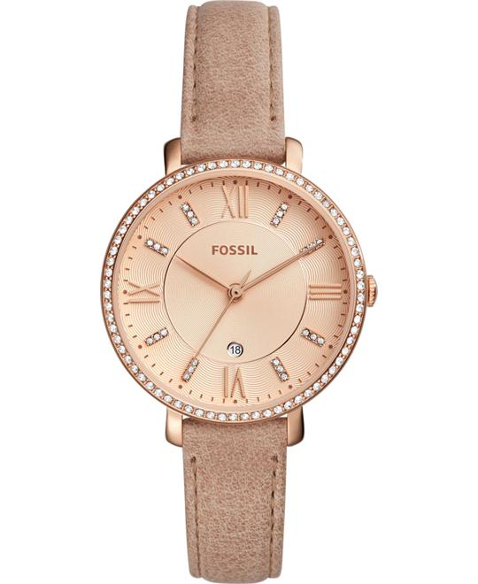 Fossil Jacqueline Rose Crystal Watch 36mm