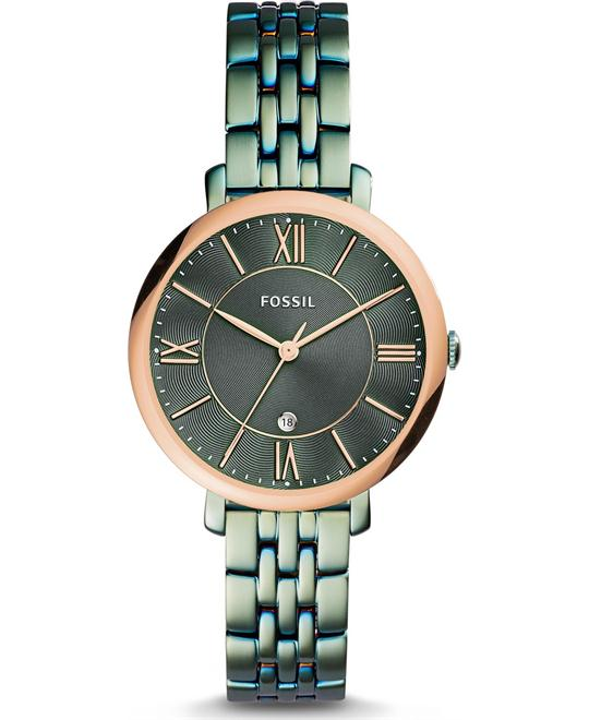 Fossil Jacqueline Three-Hand Date Alpine Green Watch 36mm
