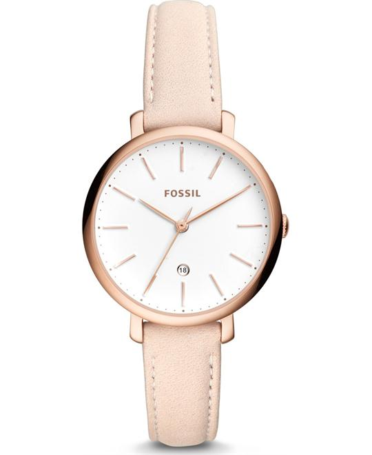 Fossil Jacqueline Three-Hand Date Pastel Pink Watch 36mm