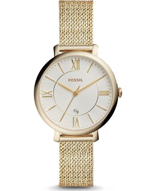 Fossil Jacqueline Three-Hand Gold-Tone Watch 36mm