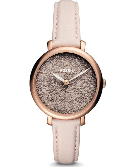 Fossil Jacqueline Three-Hand Pastel Pink Watch 36mm