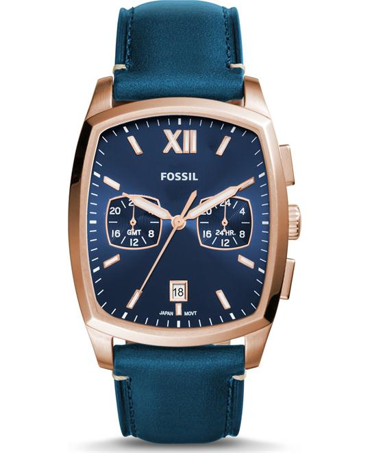 Fossil Knox Dual Time Navy Watch 38x32mm