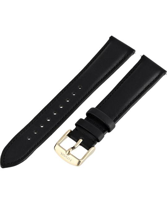 Fossil Leather Calfskin Black Watch Strap 18mm