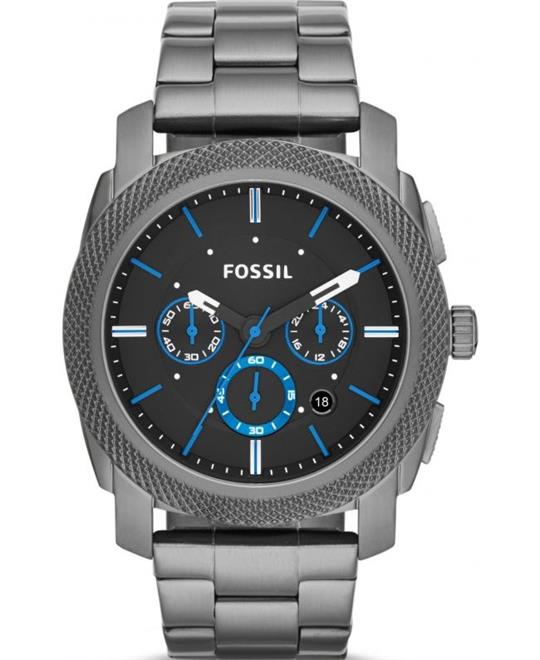 Fossil Machine Chronograph Black Dial Men's Watch 45mm