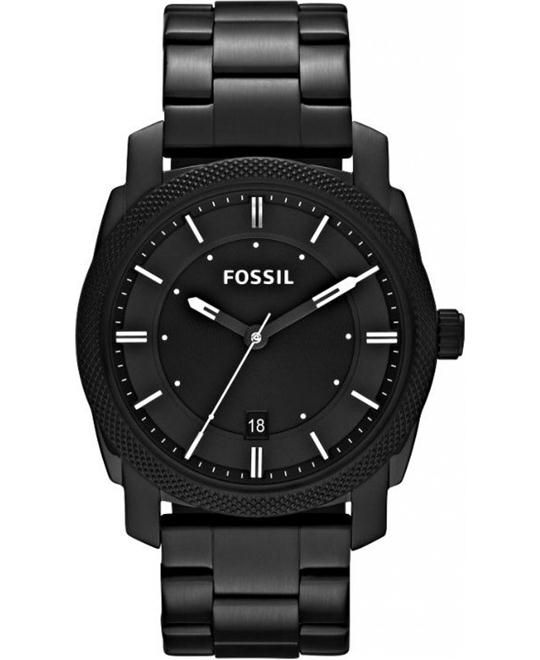 Fossil Machine Three Hand Watch Black 42mm