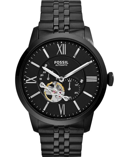 dong ho nam FOSSIL Skeletal Dial Navy Men's Watch 45mm