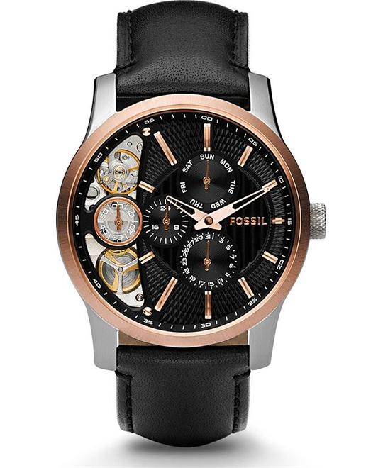 đồng hồ nam giả cơ FOSSIL Twist Black Dial Multifunction Men's Watch 42mm