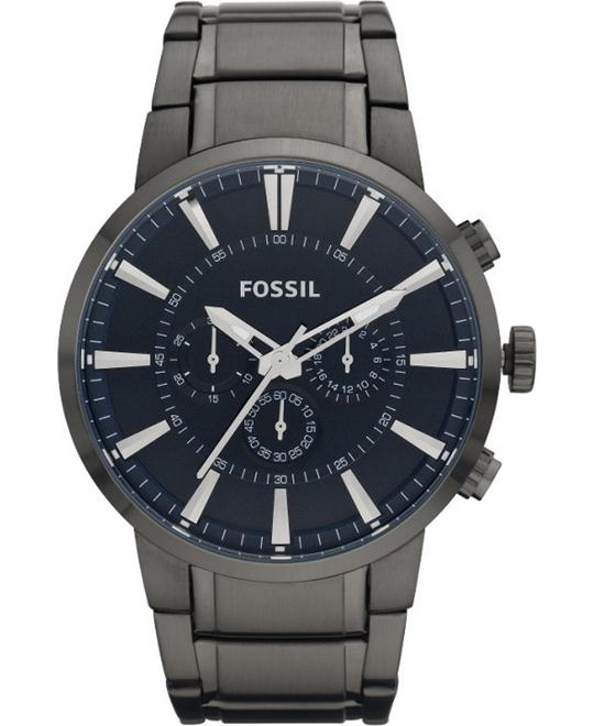 Fossil Men's Bracelet Chronograph Watch 47mm