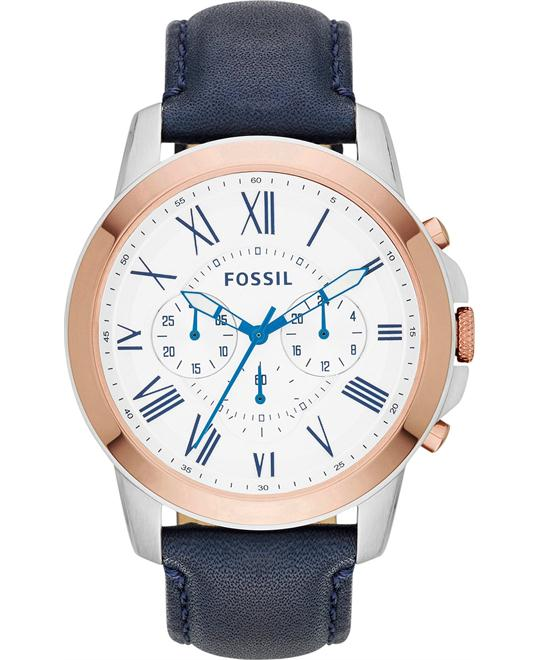 Fossil Grant Men's Chronograph Navy Watch 44mm