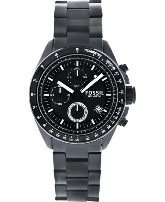 Fossil Men's Decker Chronograph Stainless Watch 44mm