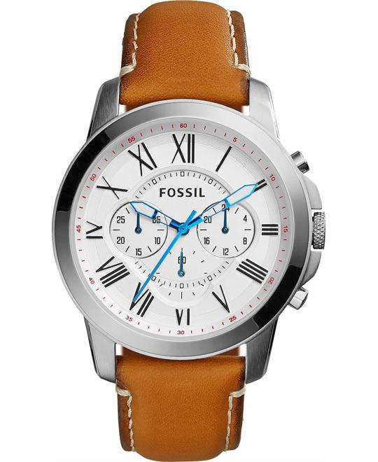 Fossil Men's Display Analog Quartz Brown Watch 43mm