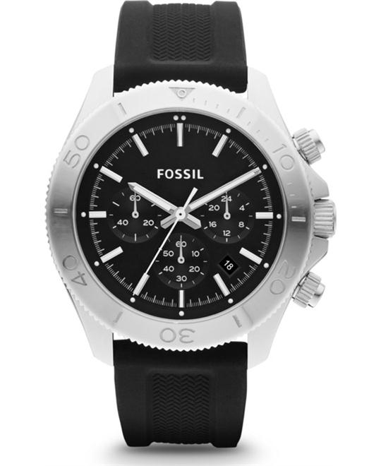 FOSSIL Men's Black Strap Retro  Watch