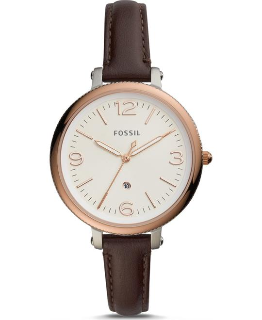 Fossil Monroe Brown Watch 38mm