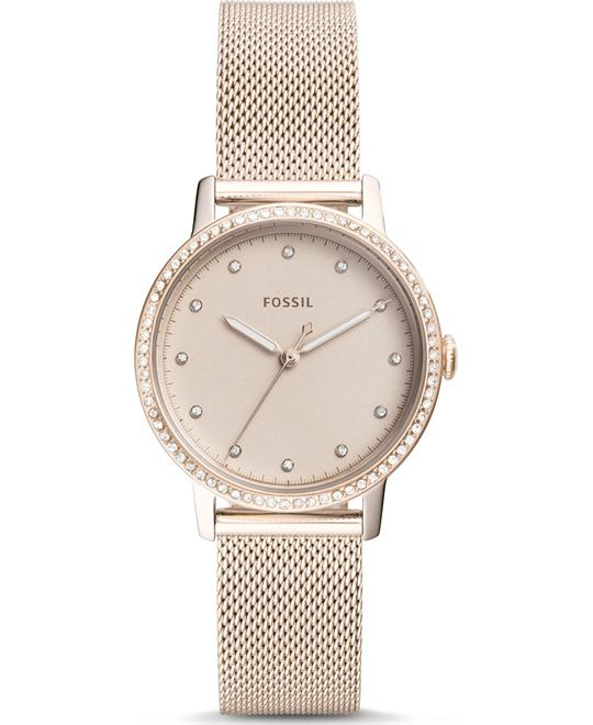 Fossil Neely Three-Hand Pastel Pink Watch 34mm