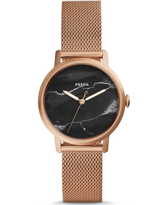 Fossil Neely Three-Hand Rose Gold Watch 34mm