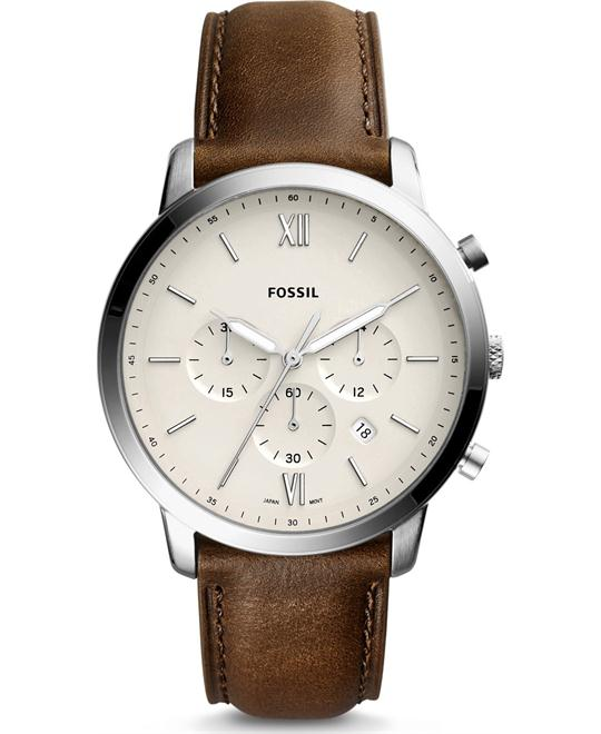 Fossil Neutra Chronograph Brown Watch 44mm