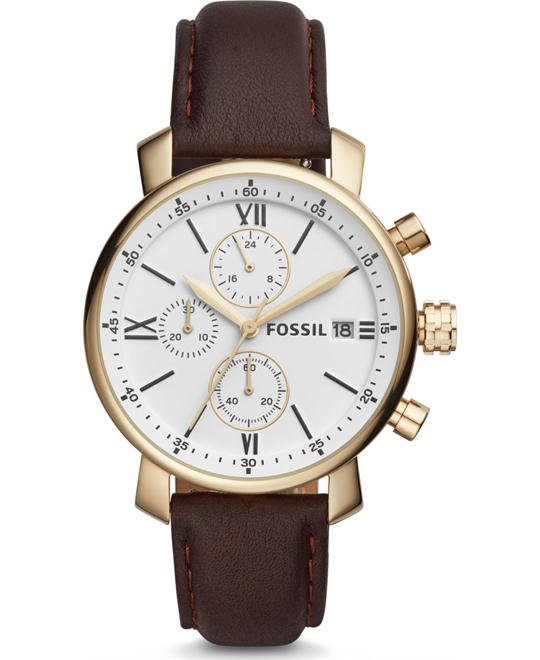 Fossil Rhett Chronograph Brown Watch 42mm