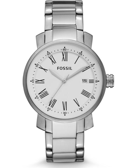 Fossil Rhett Three-Hand Stainless Steel Watch 42mm
