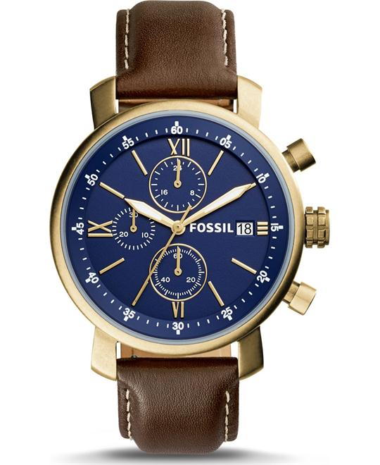 Fossil Sale Rhett Chronograph Brown Watch 42mm