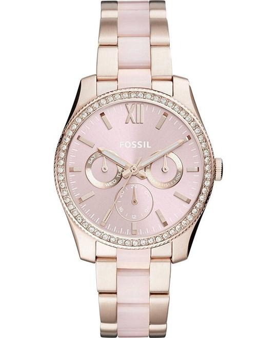 Fossil Scarlette Multifunction Pastel Pink Watch 38mm