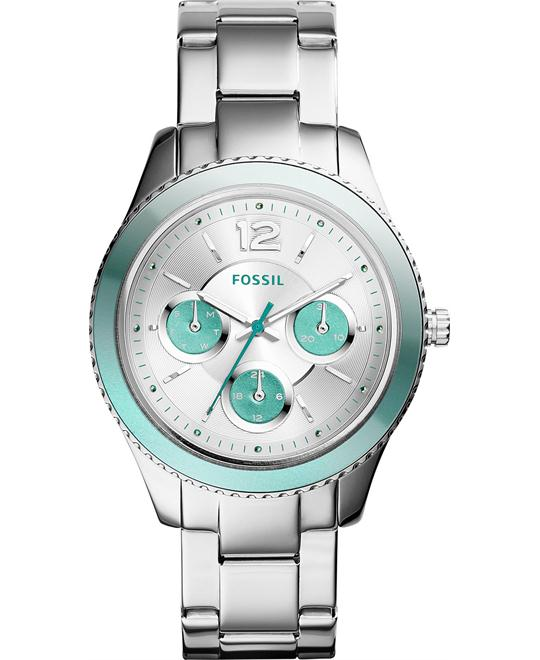 Fossil Stella Analog Display Quartz Silver Watch 38mm