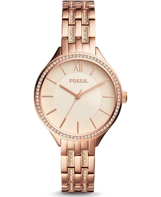 Fossil SUITOR Rose Gold Glitz Bezel Watch 38mm